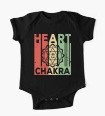 Yoga Heart Chakra Vintage Retro One Piece - Short Sleeve
