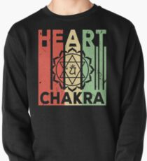 Yoga Heart Chakra Vintage Retro Pullover