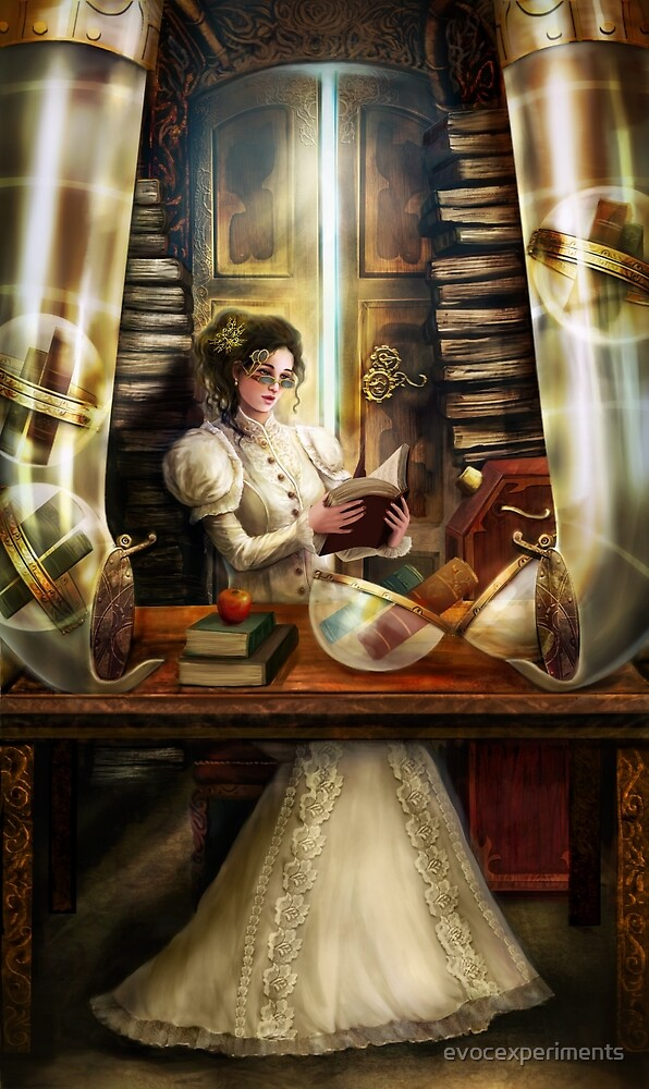 Steampunk Librarian by evocexperiments