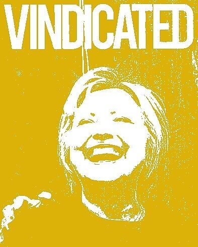 "Hillary Clinton ""Vindicated"" - Yellow by Tchurch"
