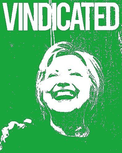"Hillary Clinton ""Vindicated"" - Green by Tchurch"