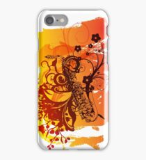 Retro Abstract Sax iPhone Case/Skin