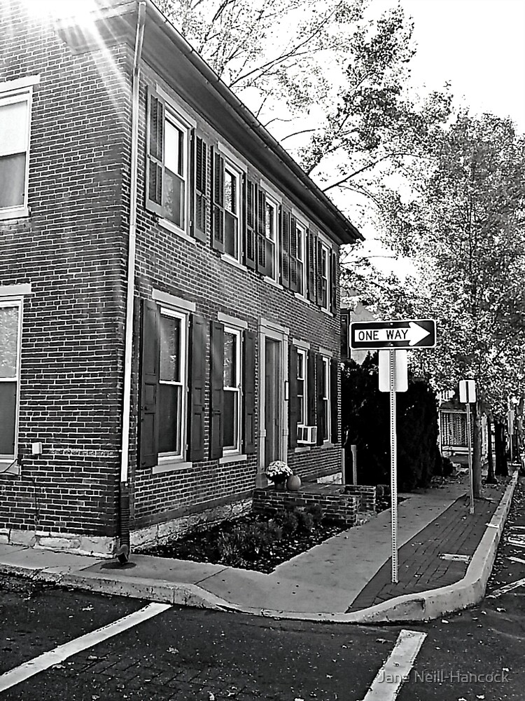 Old 1860s Brick Home on a One Way Corner, Annville, PA by Jane Neill-Hancock