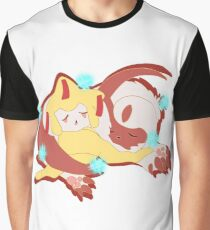 Sleeping Jirachi and Absol Graphic T-Shirt
