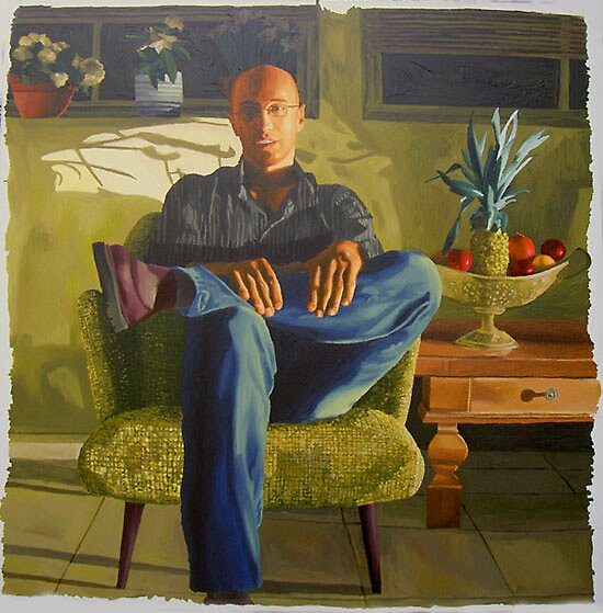 realism paintings of a man on sofa art by raphael perez by raphael perez