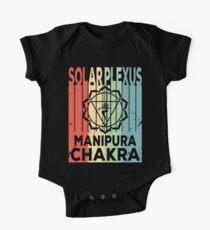 Yoga Solar Plexus Chakra Manipura Vintage Retro One Piece - Short Sleeve