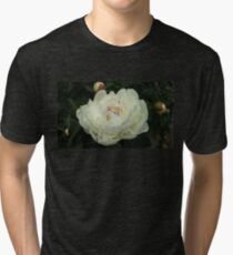 Huge White Peony with Buds Tri-blend T-Shirt
