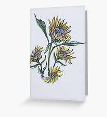 Sunflower Crazy Greeting Card