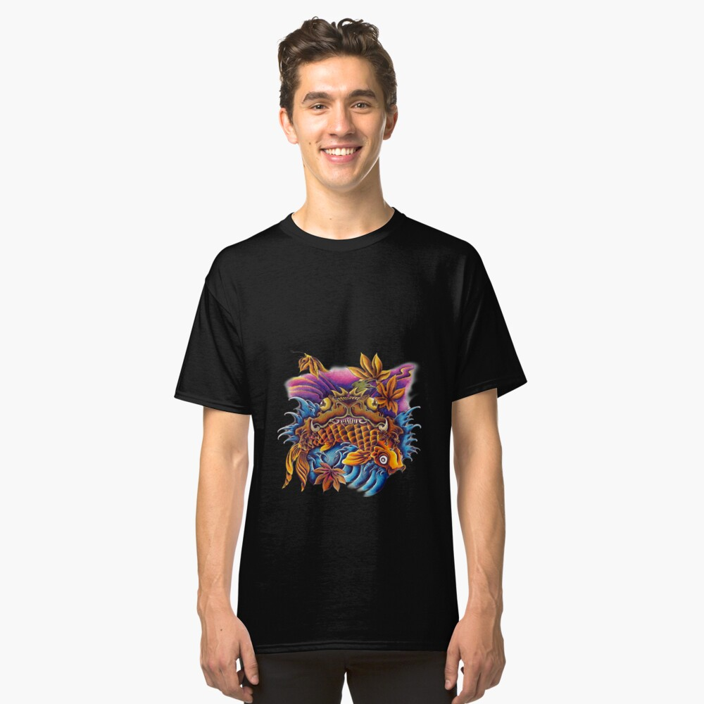 Frog Eating a Koi Fish Japanese FolkLore Classic T-Shirt Front