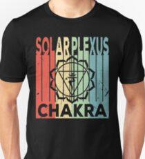 Yoga Solar Plexus Chakra Vintage Retro Slim Fit T-Shirt