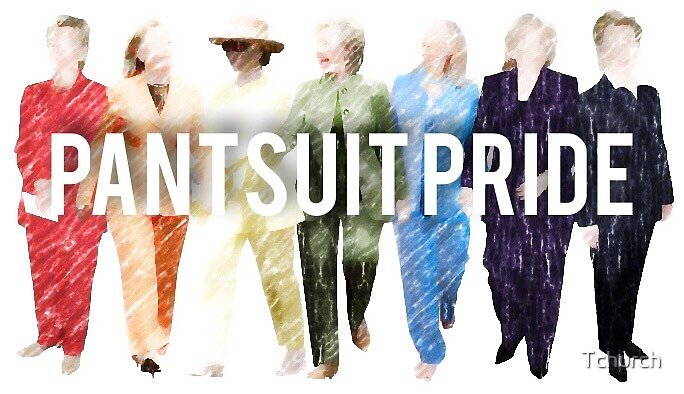 Pantsuit Pride Hillary Clinton Rainbow by Tchurch