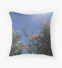 Summertime flowers Throw Pillow