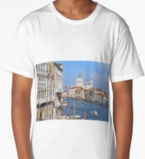 6 June 2017 Beautiful classical buildings in Canal Grande. Venice, Italy Long T-Shirt