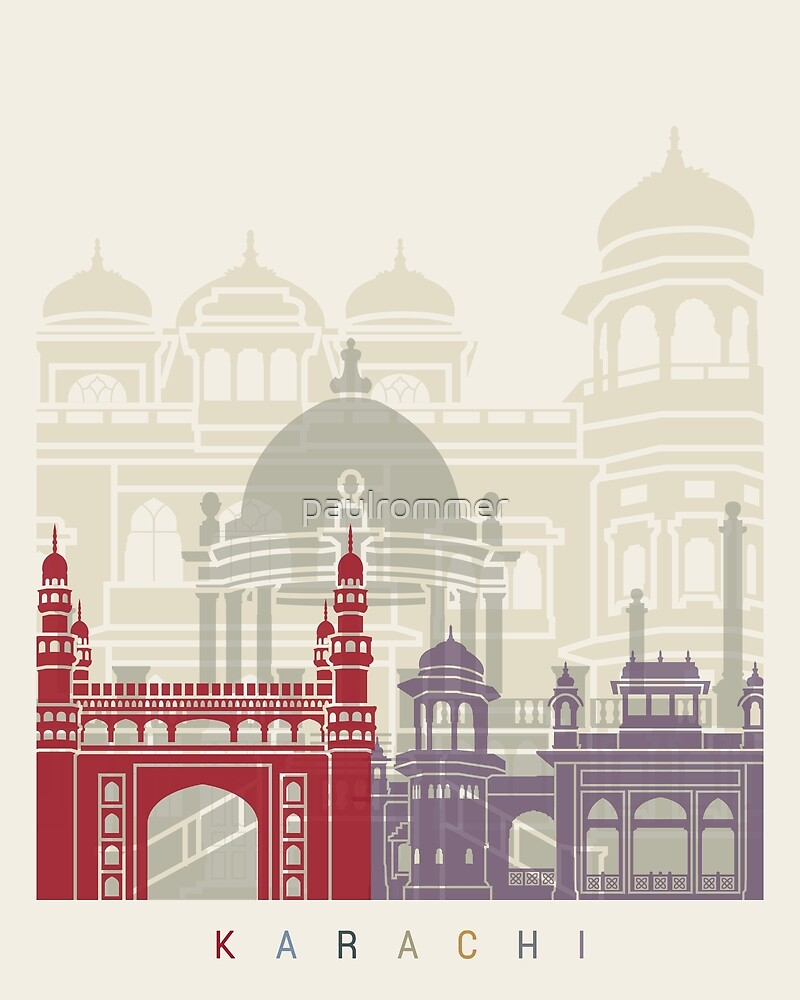 Karachi skyline poster  by paulrommer