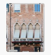 Venetian building facade with windows with arches and shutters iPad Case/Skin