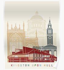 Kingston Upon Hull skyline poster Poster