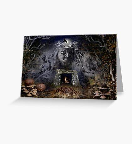Samhain Goddess : The Crone Greeting Card