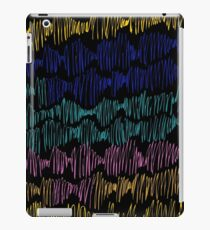 Zigzags from lines an abstract texture iPad Case/Skin