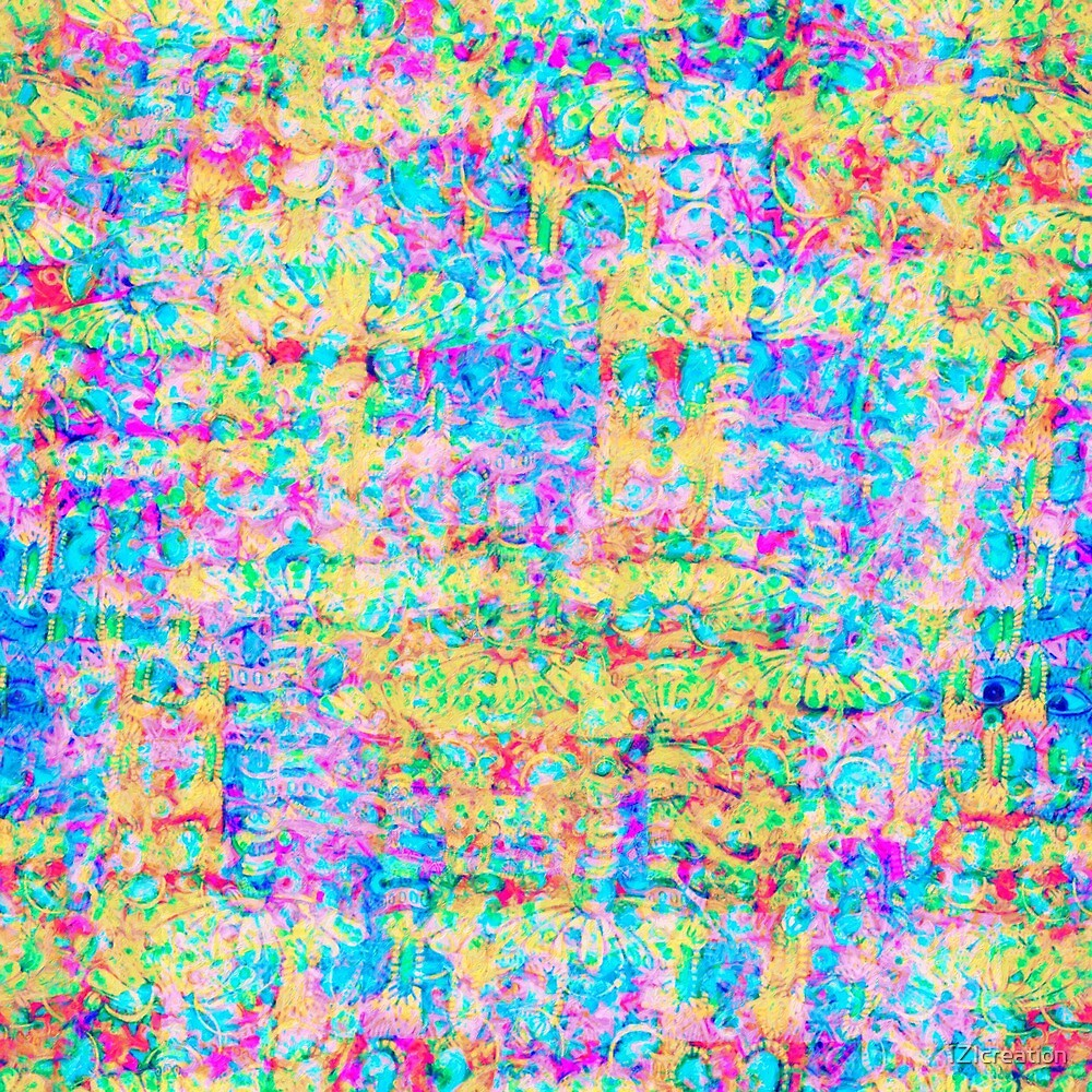 Abstract pattern in impressionism style. by IZIcreation