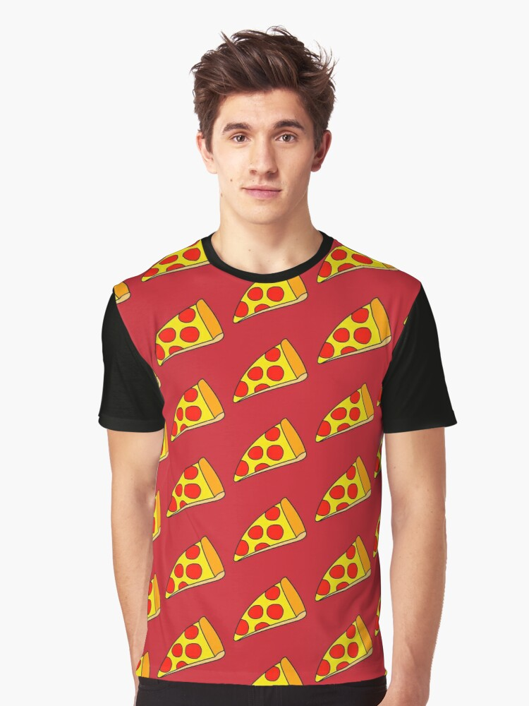 Pizza Slice - Fast Food Graphic T-Shirt Front