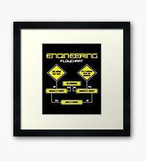 Engineering Flowchart Shirt Framed Print