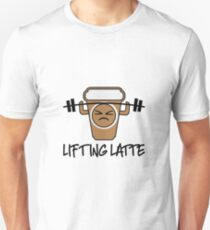 Lifting Latte - Weight Lifting Coffee Shirt Unisex T-Shirt