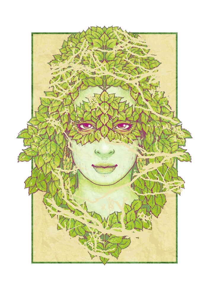Birch Mask - Forest Faces by Brett Miley