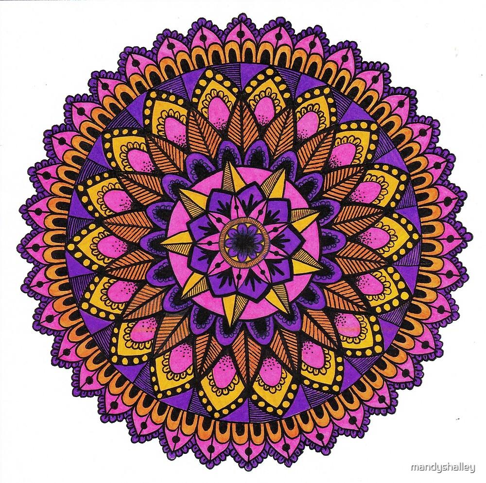 Purple and Orange Mandala by mandyshalley