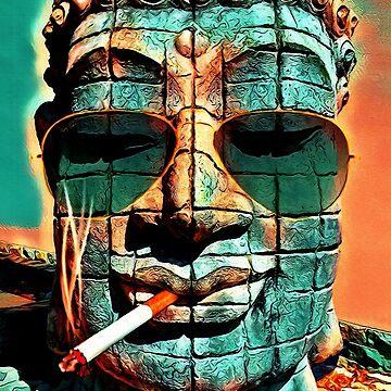 SMOKING BUDDHA by fuxart