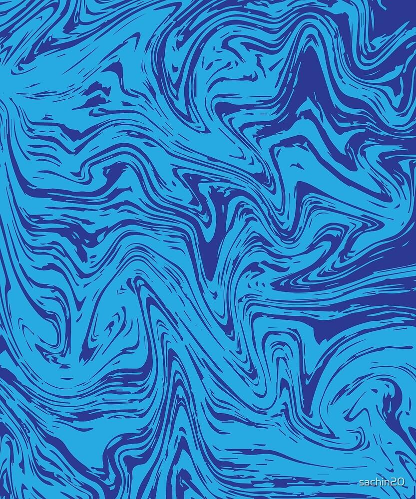 Blue Liquid Marble #redbubble #decor #buyart by Creativeaxle