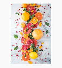 Fruit Plate  Photographic Print