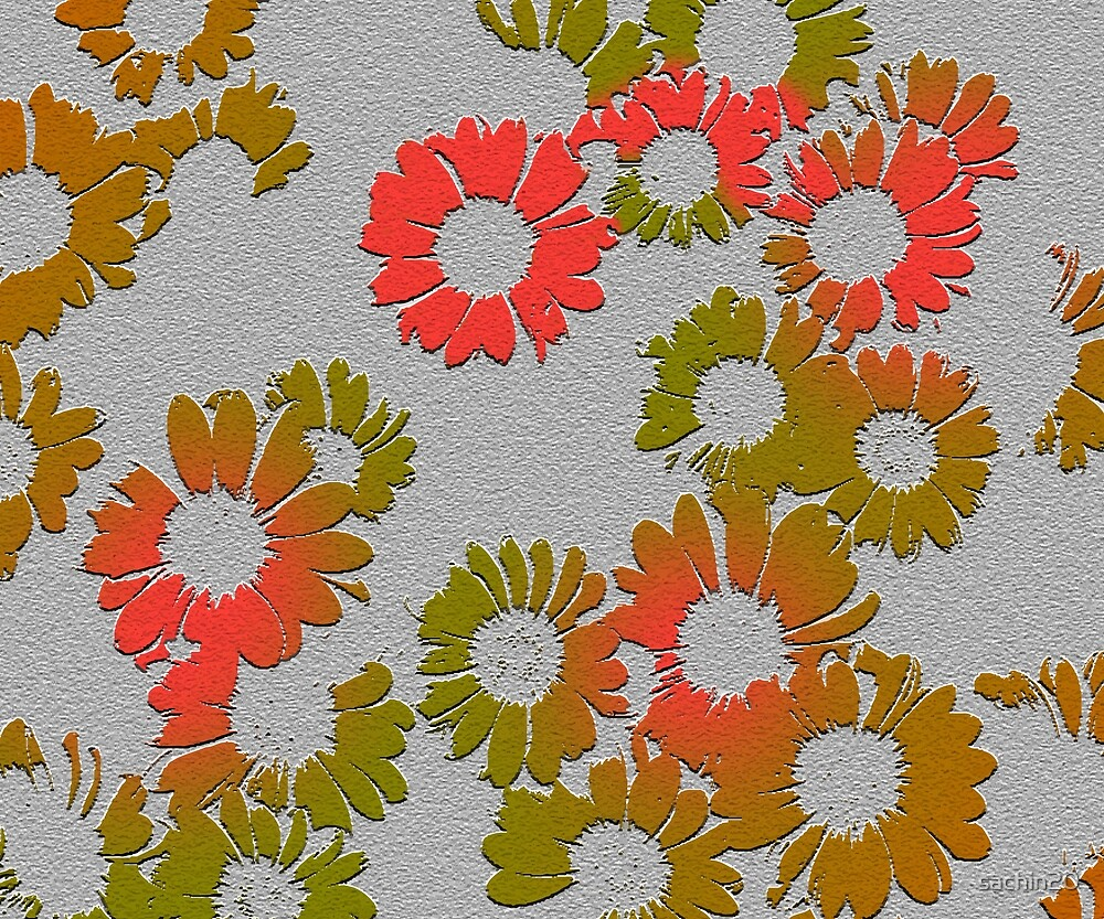 Emboss Floral #redbubble #decor #buyart by Creativeaxle
