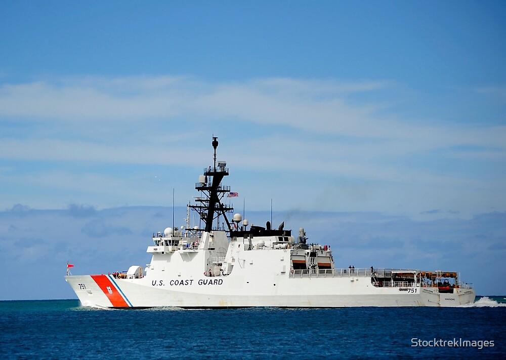 The national security cutter USCGC Waesche. by StocktrekImages