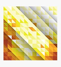 Yellow Abstract Triangle Pattern Photographic Print