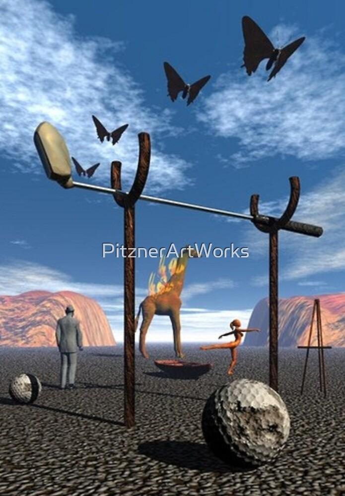 DALI-ESQUE GOLF SCENE by PitznerArtWorks