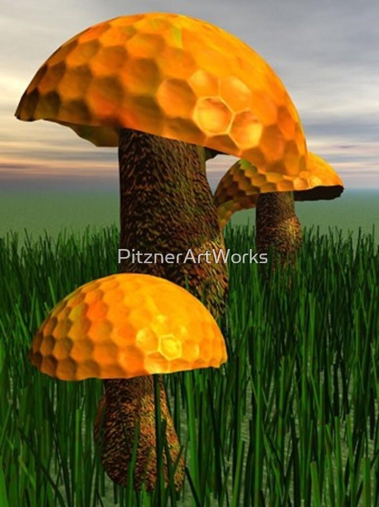GOLF MUSHROOM by PitznerArtWorks