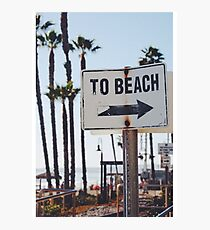 Summer Vibes - To Beach Photographic Print