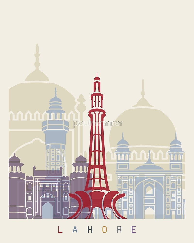 Lahore skyline poster by paulrommer