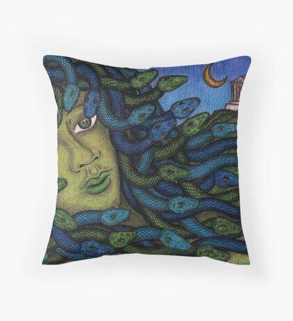 Madusa Throw Pillow