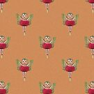 Cute Kewpie - Orange Background by STHogan