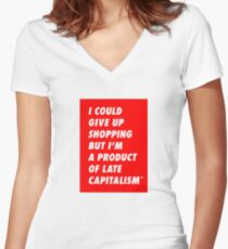 Shopping for Late Capitalism Women's Fitted V-Neck T-Shirt
