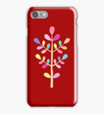 Red; Minimalist Floral Vector Stem; Spring Happiness iPhone Case/Skin