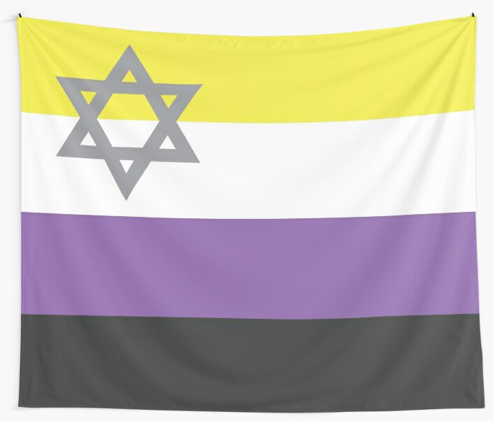 Non Binary Jewish Pride by MajesticCube