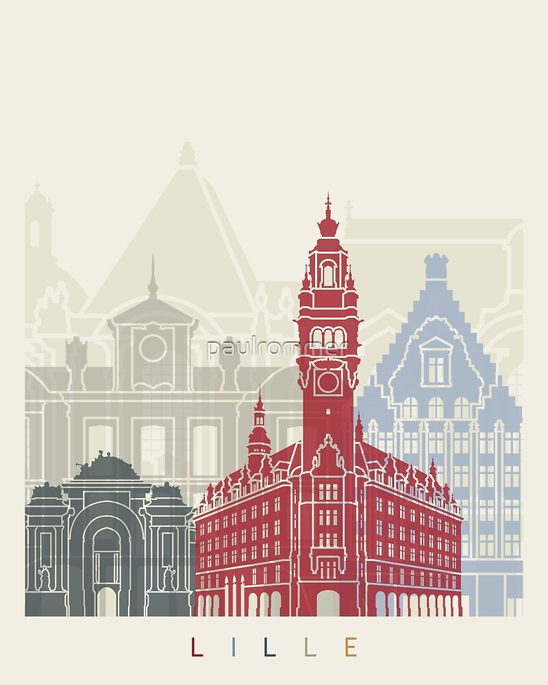 Lille skyline poster  by paulrommer