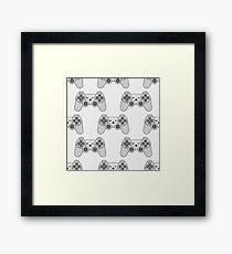 Gamepad texture Video game controller  Framed Print