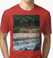 Waves, Woods, Wind and Water - Landscape Photography Tri-blend T-Shirt