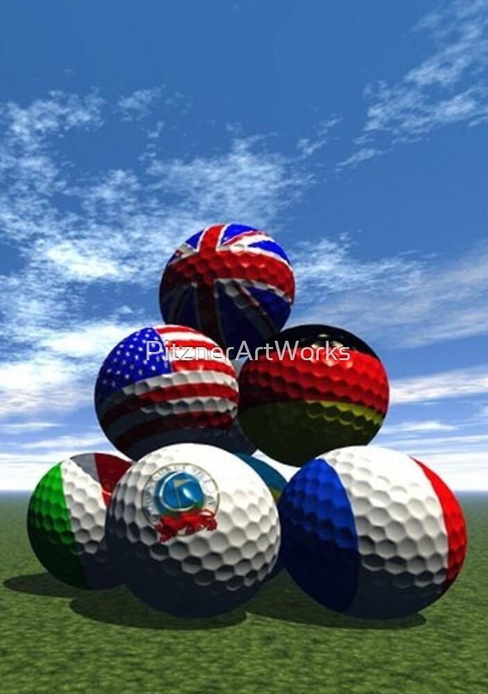 INTERNATIONAL GOLF BALL PYRAMID by PitznerArtWorks