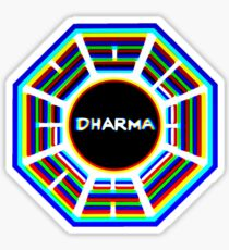Fringed Dharma Initiative Sign   Sticker