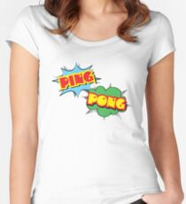 Ping Pong Pop Art Women's Fitted Scoop T-Shirt