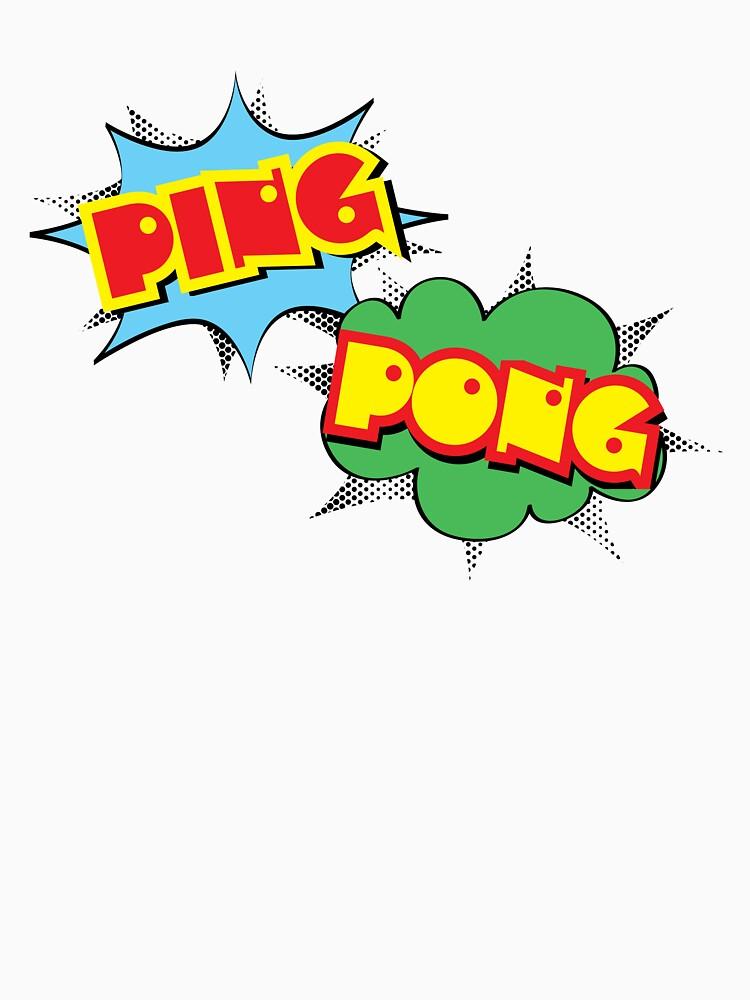Ping Pong Pop Art by Brubarell